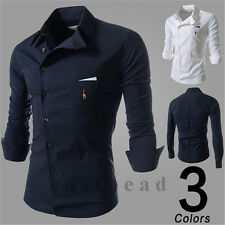 New Elk Mens Luxury Stylish Casual Dress Slim Fit T-Shirts Casual Long Sleeve