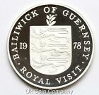 BAILIWICK OF GUERNSEY 1978 SILVER PROOF 25p TWENTY FIVE PENCE COIN
