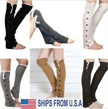 Boot Socks Girls Leg Warmers Crochet Knit Toppers Cuffs Knee High Long Legging