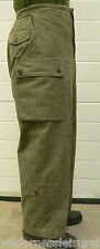 Vintage Military Cargo Dutch Trousers Heavy Cotton Hard Wearing Great Looking