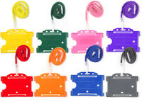 ID Card Badge Holder & Neck Strap Lanyard Free Delivery Choose Colour & Qty Lot