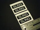 "Sling Decal with Black Background Marine Boat Safety 2"" Stickers (2 Pair)"