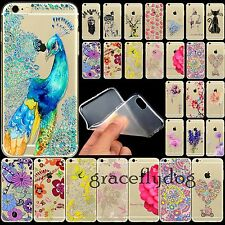 Printed Transparent Soft Silicone TPU Cover Case For iPhone 4 5 5S 4S 6 6plus
