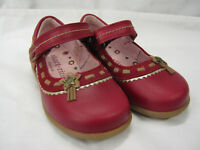 *SALE* Girls Startrite Shoes In Red Leather 'Ella' G Fitting