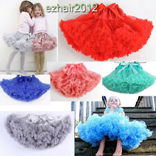 Girls Kids Dress Tutu Skirt Princess Party Petticoat Ballet Pettiskirt Candy UK