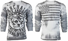 Archaic AFFLICTION Mens THERMAL T-Shirt RACER American Customs Biker M-3XL $58 b