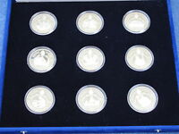 1987 Papal Visit Silver Collection Pope John Paul II set of 9 Proof Medals B9166