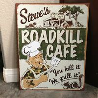 Roadkill Cook Cafe Kitchen Metal Tin Sign Man Cave Fast Shipping Garage Steve