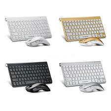 2.4GHz Tastiera wireless keyboard & optical mouse set con USB Receiver per pc