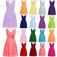 New Formal Short Evening Ball Gown Party Prom Bridesmaid Dress Stock Size 6-18