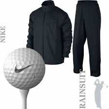 Nike NK230 Hombres Peso Ligero Storm-FIT Impermeable Golf Traje lluvia Negro