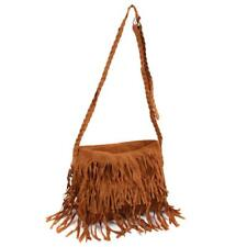 Fashion Women Fringe Tassel Suede Shoulder Bag Messenger Cross Body Bag Handbag