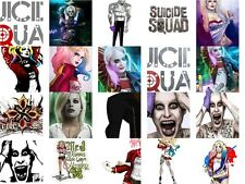 Suicide Squad iron on diy t-shirt transfers free postage Harley Quinn Joker