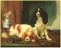 CAVALIER KING CHARLES ENGLISH TOY SPANIEL DOG ART PRINT  Vincent de Vos (Small)