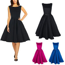 Fashion Women 50s 60s Retro Rockabilly Swing Pinup Cocktail Party Evening Dress
