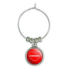 Wine Glass Charm Drink Marker I Love Heart Dogs A-C