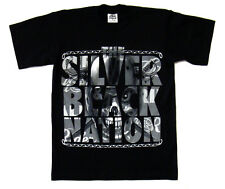 Oakland Raiders Men's Silver & Black Nation T-Shirt Black