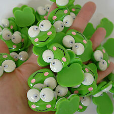 Frog Flat Back Buttons Embellishments for Cards Arts Crafts Hair Head Band Clips
