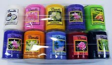 "Thai Nature Flower Scented Aromatherapy Pillar Candle Light Height 2""  New"