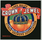 CROWN JEWEL Vintage Florida Citrus Crate Label, Royalty, King, AN ORIGINAL LABEL
