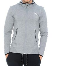 Mens New Puma Sweat Top Track Jacket Grey Hoodie Tracksuit Sweats Training Gym