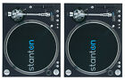 SEALED - 2 STANTON STR8-150 DIRECT DRIVE TURNTABLES - TWIN DJ SET w/ CARTRIDGES