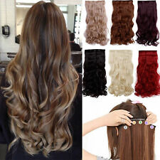 Half head clip in on hair extensions curly wavy staright real like own hair soft