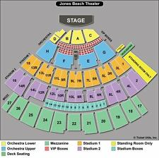 PAIR ROW F SEATS! Sting and Peter Gabriel, Nikon at Jones Beach Theater 6/24
