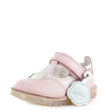 KICKERS INFANT GIRLS KICK T LOVE HEART LEATHER PINK T BAR SANDALS SHOES SIZE