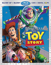 Toy Story Blu Ray 3D+Blu-Ray+DVD+Digital - Usually ships in 12 hours!!!