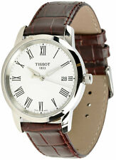 Tissot T0334101601301 T-Classic Dream Date Men's Brown Leather Watch New