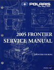 2005 POLARIS SNOWMOBILE FRONTIER SERVICE MANUAL CD