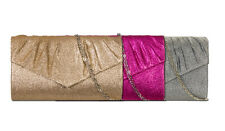 Sparkly Show Time Draped Glitter Clutch Bag - Koko A303 - 3 colours