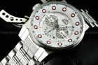 Invicta Men 50mm I-Force Rifle Trigger Bomber Chrono White DL SS Bracelet Watch