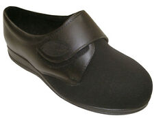 Womens Cosyfeet Stretchable Velcro Shoe, PU sole, sizes 4-9, EEEEE+ fitting