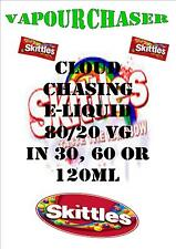 80/20vg/pg Skittles cloud chasing e liquid juice sub ohm max 80/20 vaping oil