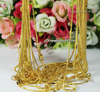 """wholesale!10pcs gold plated snake chain necklace1.2mm 24"""""""