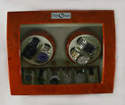 Watch Winder Diplomat Burlwood Finish AC/DC Quiet Motor storage 4 watches