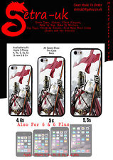 Knights Templar Phone Case Cover for Apple iPhone 4, 4S, 5C, ,5 5S, 6