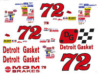 #72 Detroit Gasket 1/24th - 1/25th Scale Waterslide Decals