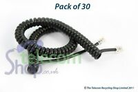 30 x Black Curly Cords Long Tail For Home & Office Phones Incl VAT/DEL