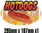 BIG Exterior Catering HOTDOG Decal Cut Printed UV Laminated Food Sticker