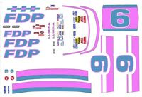 #9 FDP Brakes 1/24th - 1/25th Scale Waterslide Decals