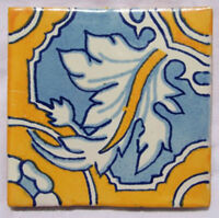 "90 PCS█ Mexican Talavera Ceramic Tiles Handmade 4"" C179"