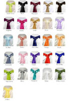 SATIN CHAIR COVER BOW SASH FOR WEDDING / PARTY UK SELLER, WHOLESALE MANY COLOURS