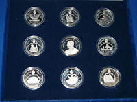 1987 Papal Visit Silver Collection 9 Proof Sterling Art Rounds Pope John Paul II