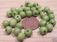 1:12 Scale 6 Cooking Apples Dolls House Miniature Food Fruit Kitchen Accessory