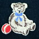 1PC~SMALL TEDDY BEAR~IRON ON EMBROIDERED PATCH APPLIQUE