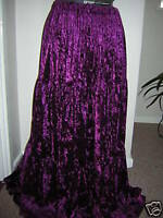 dark plum aubergine crushed velvet skirt 10 12 14 16 18 20 22 24 26 28 30 32 34