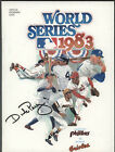 1983 Phillies vs Orioles WORLD SERIES Program
